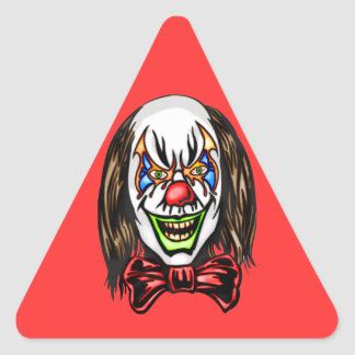Heartless Evil Clown Triangle Stickers