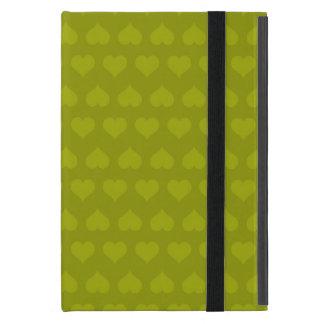 Heartlines-Acid Lime Green iPad Mini Case