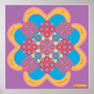 HeartMandala with HeartSpring Poem print