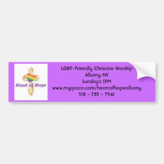 HeartofHope logo, LGBT-Friendly Ch... - Customized Bumper Sticker