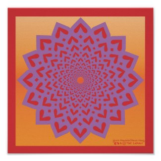 HeartPetal Tunnel Mandala print