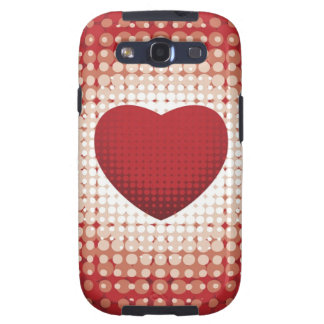 Hearts1314 red white heart shapes love sweetheart samsung galaxy SIII cases