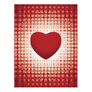 Hearts1314 red white heart shapes love sweetheart postcard
