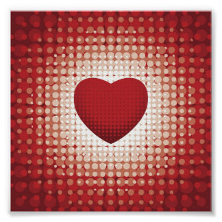 Hearts1314 red white heart shapes love sweetheart poster