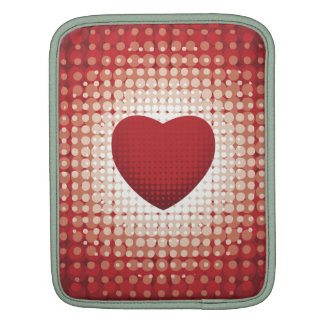 Hearts1314 red white heart shapes love sweetheart sleeves for iPads
