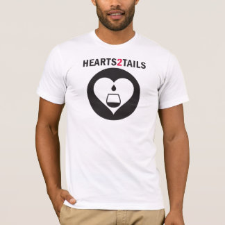 Hearts2Tails Black Graphic with Text Men's Tee