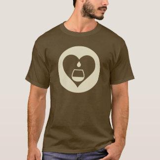 Hearts2Tails Cream Graphic Logo Men's T-Shirt