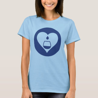 Hearts2Tails Navy Graphic Logo Women's T-Shirt