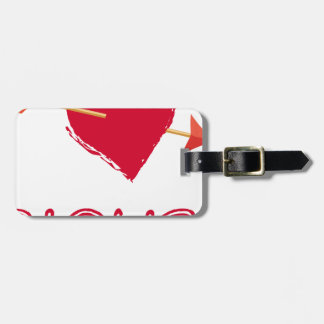 hearts4 luggage tag