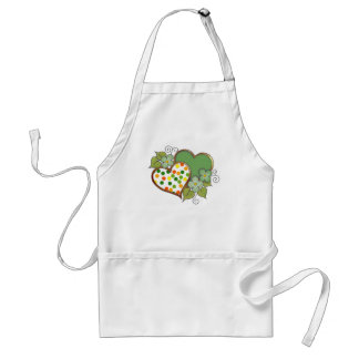 Hearts - 12 Polka Dots Adult Apron
