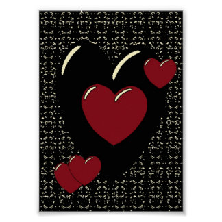 Hearts 1 Canvas Poster