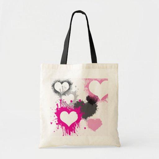 hearts-296844  hearts splatter paint love graffiti canvas bags