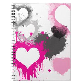 hearts-296844  hearts splatter paint love graffiti notebook