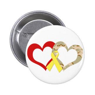 Hearts 2 Inch Round Button