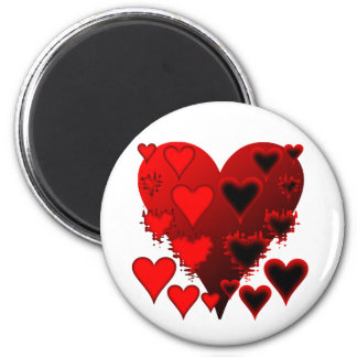Hearts 2 Inch Round Magnet
