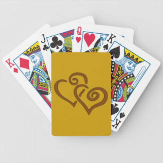 hearts-303555 CHOCOLATE CARAMEL SWIRLS ENTWINED HE Bicycle Playing Cards