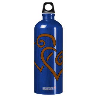 hearts-303555 CHOCOLATE CARAMEL SWIRLS ENTWINED HE SIGG Traveler 1.0L Water Bottle