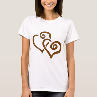 hearts-303555 CHOCOLATE CARAMEL SWIRLS ENTWINED HE T-Shirt