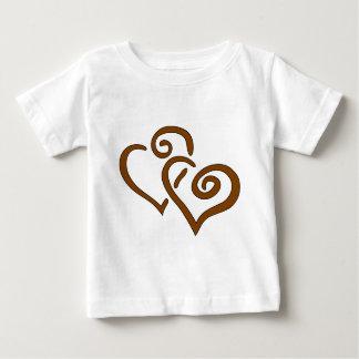hearts-303555 CHOCOLATE CARAMEL SWIRLS ENTWINED HE Tee Shirts