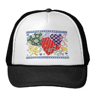 Hearts 3.psf trucker hat
