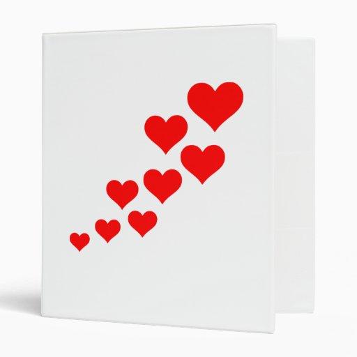 Hearts 3 Ring Binder