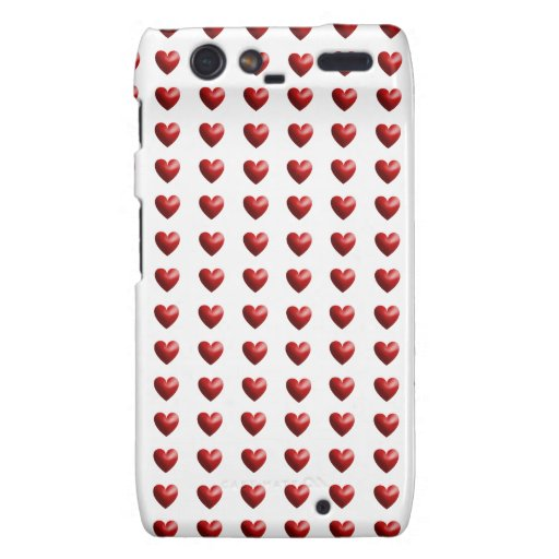 Hearts: 3D Red Motorola Droid RAZR Covers