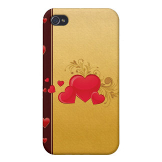 Hearts 4G iPhone 4 Case