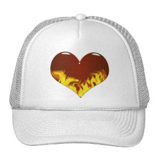 hearts-a -fire trucker hat
