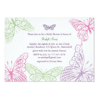 Heart's a Flutter Bridal Shower Invitation