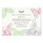 Heart's a Flutter Bridal Shower Invitation (green)