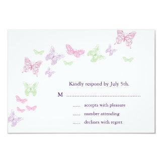 Heart's a Flutter RSVP 3.5x5 Paper Invitation Card