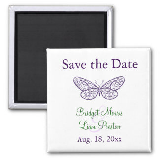 Heart's a Flutter Save the Date Magnet