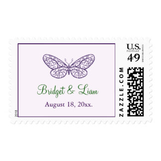 Heart's a Flutter Stamp lilac