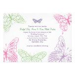 Heart's a Flutter Wedding Invitation 2