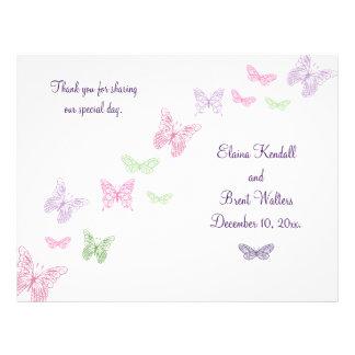 Heart's a Flutter Wedding Program Flyer