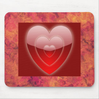 HEARTS A GLOW MOUSE PAD