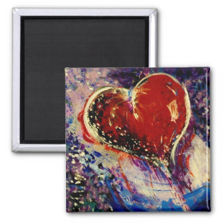 Hearts Adrift 2 Inch Square Magnet
