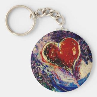 Hearts Adrift Basic Round Button Keychain