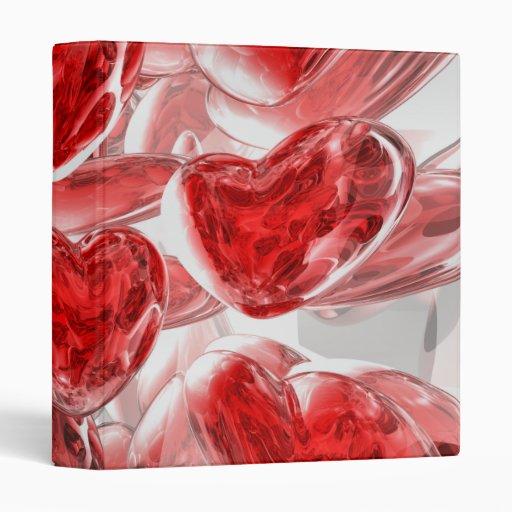 Hearts Afire Abstract Binder