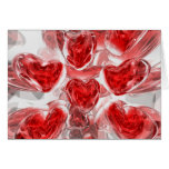 Hearts Afire Abstract  Card