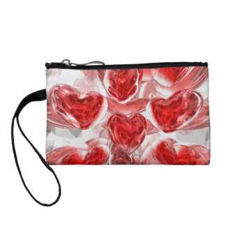 Hearts Afire Abstract Coin Purse