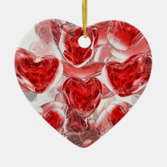 Hearts Afire Abstract Ornament