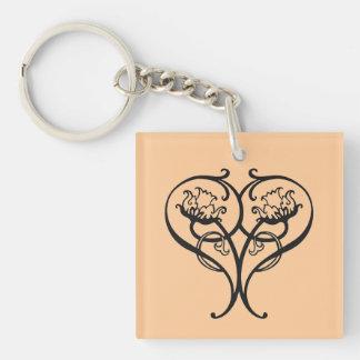 Hearts Afire Elegant Keychain