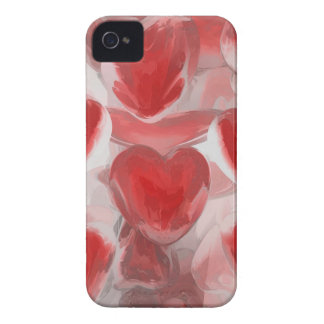 Hearts Afire Pastel Abstract iPhone 4 Case