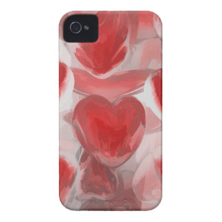 Hearts Afire Pastel Abstract iPhone 4 Case-Mate Cases
