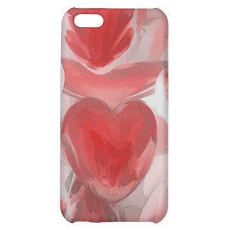 Hearts Afire Pastel Abstract iPhone 5C Case