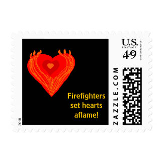 HEARTS AFLAME - postage stamps - Customized