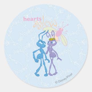 Hearts Aglow Classic Round Sticker