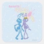 Hearts Aglow Square Sticker