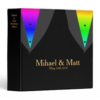 Hearts Aglow with Pride Gay Wedding Album Binder